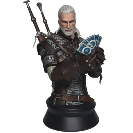 Witcher 3 Wild Hunt buste Geralt Playing Gwent Dark Horse