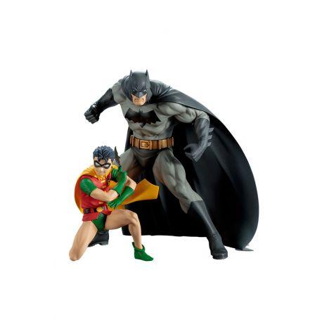 DC Comics pack 2 statuettes ARTFX+ Batman & Robin Kotobukiya