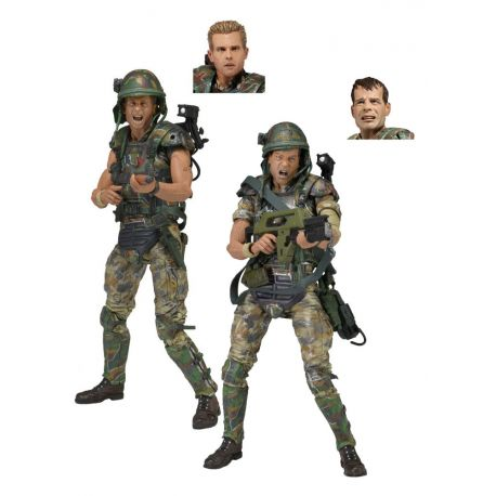Aliens pack 2 figurines 30th Anniversary Colonial Marines Neca
