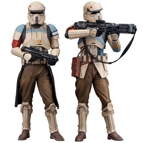 Star Wars Rogue One pack 2 statuettes ARTFX+ Scarif Stormtrooper Kotobukiya