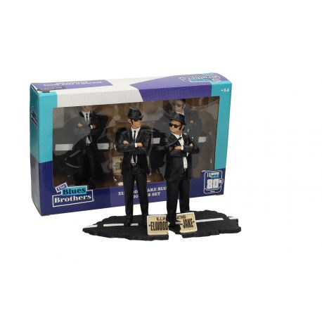 Blues Brothers pack 2 statuettes PVC Movie Icons Jake & Elwood SD Toys