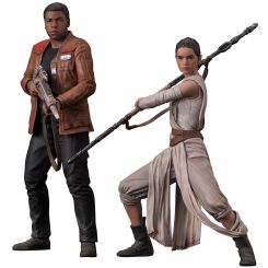 Star Wars Episode VII One pack 2 statuettes ARTFX+ Rey & Finn Kotobukiya