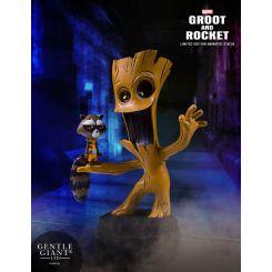 Marvel Comics mini statuette Groot & Rocket Gentle Giant