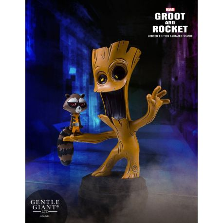 Marvel Comics mini statuette Groot & Rocket Gentle Giant