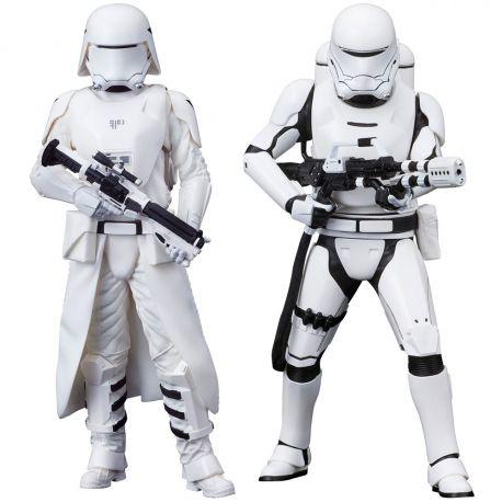 Star Wars Episode VII pack 2 statuettes ARTFX+ First Order Snowtrooper & Flametrooper Kotobukiya