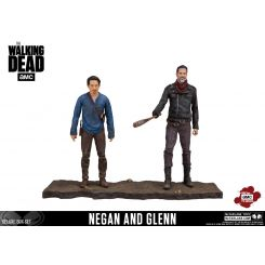 The Walking Dead TV Version pack 2 figurines Negan & Glenn McFarlane Toys