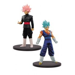 Dragonball Super Warriors figurines DXF Super Saiyan Blue Vegeto & Black Goku Banpresto