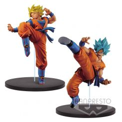 Dragonball Super assortiment figurines Son Goku Fes SSJ Goku & SSJ God Goku Banpresto
