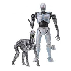 RoboCop vs The Terminator pack 2 figurines EndoCop & Terminator Dog Neca