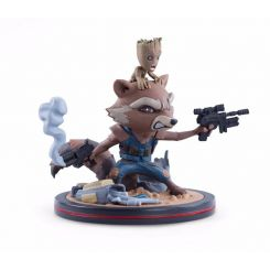 Les Gardiens de la Galaxie Vol. 2 figurine Q-Fig Rocket et Groot LC Exclusive Quantum Mechanix