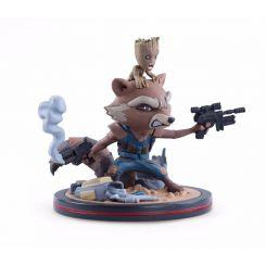 Les Gardiens de la Galaxie Vol. 2 figurine Q-Fig Rocket et Groot LC Exclusive Quantum Mechanix