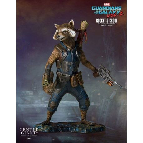 Les Gardiens de la Galaxie 2 statuette Collectors Gallery 1/8 Rocket & Groot Gentle Giant