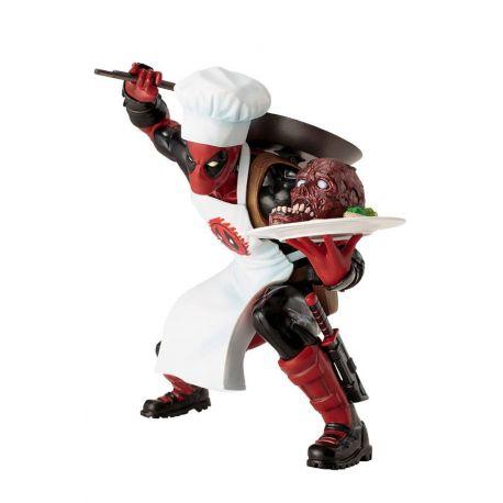 Marvel Comics statuette ARTFX+ 1/10 Cooking Deadpool Kotobukiya