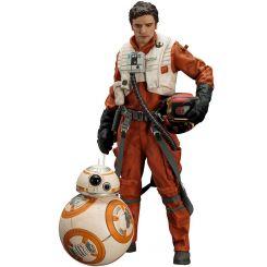 Star Wars Episode VII pack 2 statuettes 1/10 ARTFX+ Poe Dameron & BB-8 Kotobukiya