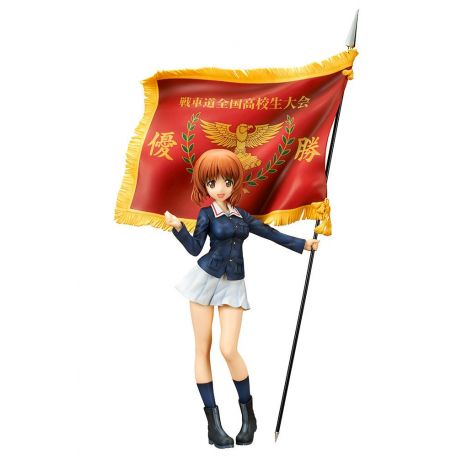 Girls und Panzer the Movie statuette Miho Nishizumi Winning Flag Ver. Ques Q