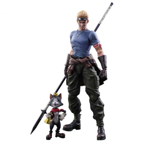 Final Fantasy VII Advent Children Play Arts Kai figurines Cid Highwind et Cait Sith