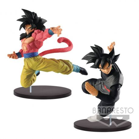 Dragonball Super assortiment figurines Super Saiyan 4 Son Goku & Goku Black Banpresto