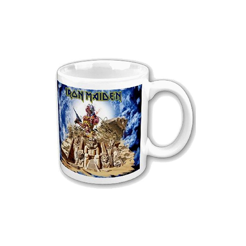 iron maiden mug somewhere back in time france figurines. Black Bedroom Furniture Sets. Home Design Ideas