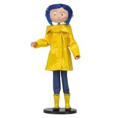 Coraline figurine flexible Raincoat & Boots Neca
