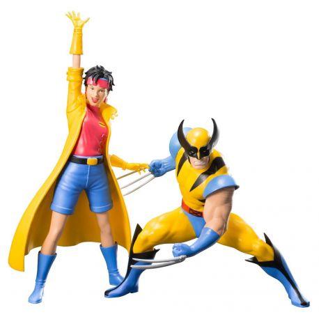 Marvel Universe pack 2 statuettes 1/10 ARTFX+ Wolverine & Jubilee (X-Men '92) Kotobukiya