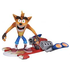 Crash Bandicoot figurine Deluxe Hoverboard Crash Bandicoot Neca