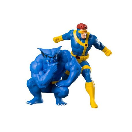 Marvel Universe pack 2 statuettes 1/10 ARTFX+ Cyclops & Beast (X-Men '92) Kotobukiya
