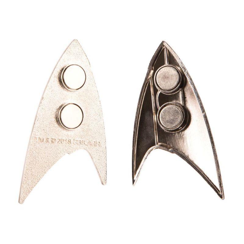star trek discovery r plique 1 1 starfleet black badge magn tique quantum mechanix france. Black Bedroom Furniture Sets. Home Design Ideas