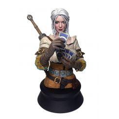 Witcher 3 Wild Hunt buste Ciri Playing Gwent Dark Horse