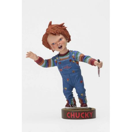 Chucky Jeu d´enfant Head Knocker Chucky with Knife NECA