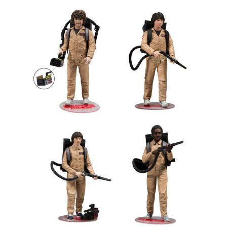 Stranger Things pack 4 figurines Ghostbusters McFarlane Toys