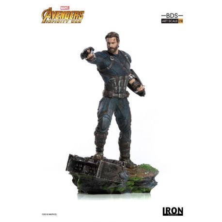 Avengers Infinity War statuette BDS Art Scale 1/10 Captain America Iron Studios