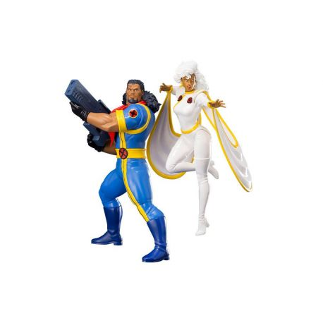 Marvel Universe pack 2 statuettes 1/10 ARTFX+ Bishop & Storm (X-Men '92) Kotobukiya