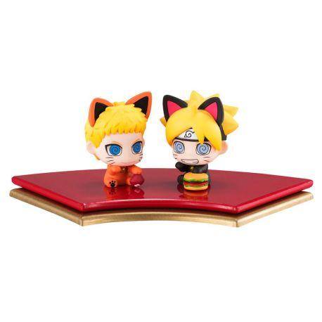 Boruto Naruto Next Generation Petit Chara Land pack 2 figurines Oyako Manekineko Dattebasa! Megahouse
