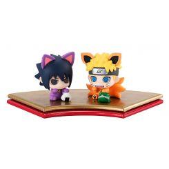 Naruto Shippuden Petit Chara Land pack 2 figurines Maneki Kyubi Dattebayo! Megahouse