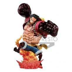 One Piece statuette Monkey D. Luffy Gear 4 Kong Gun Crimson Color Ver. Banpresto