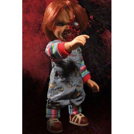 Chucky Jeu d´enfant 3 poupée parlante Designer Series Pizza Face Chucky Mezco Toys