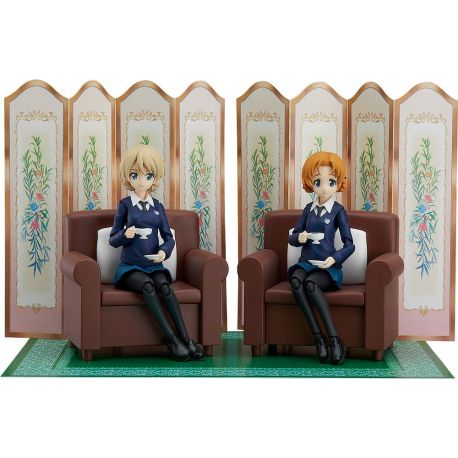 Girls und Panzer das Finale pack 2 figurines Figma Darjeeling & Orange Pekoe Max Factory