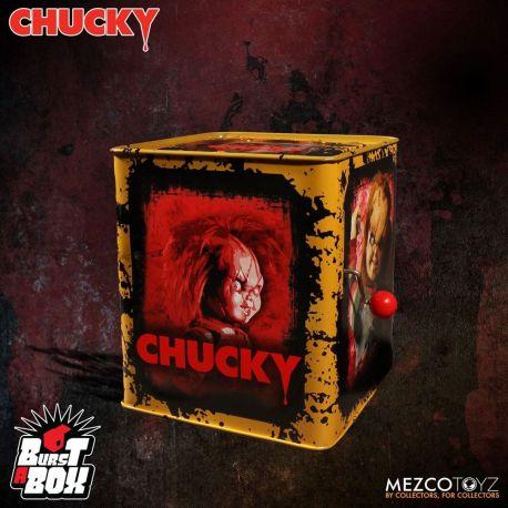 La Fiancée de Chucky boite à musique Diable en boîte Burst-A-Box Scarred Chucky Mezco Toys