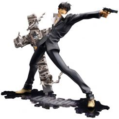 Trigun Badlands Rumble statuette ARTFX J 1/8 Nicholas D. Wolfwood Renewal Package Version Kotobukiya