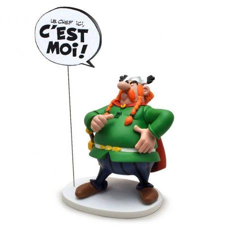 Asterix statuette Collectoys Collection Bulles Abraracourcix le chef ici c'est moi Plastoy