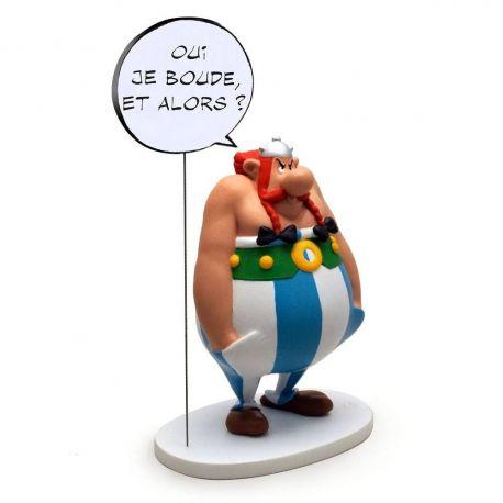 Asterix statuette Collectoys Collection Bulles Obélix Oui je boude et alors Plastoy