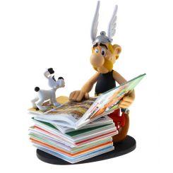 Asterix statuette Collectoys Asterix pile d'albums 2nd Edition Plastoy