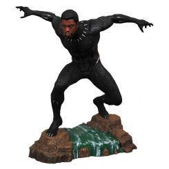 Black Panther Marvel Movie Gallery statuette Black Panther Unmasked Diamond Select