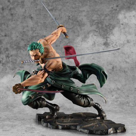 One Piece statuette Portrait Of Pirates SA-MAXIMUM Roronoa Zoro San Zen Se Kai !!! Ver. Megahouse