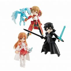 Sword Art Online assortiment figurines Desktop Army 8 cm Asuna & Kirito & Shirika Megahouse