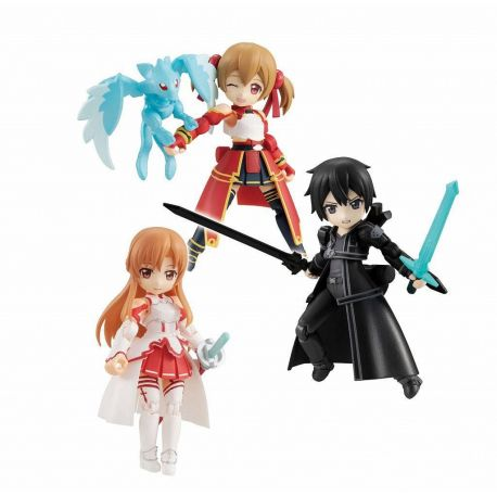 Sword Art Online assortiment figurines Desktop Army 8 cm Asuna & Kirito & Shirika Megahouse