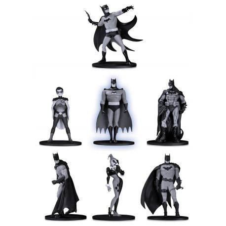 Batman Black & White pack 7 figurines Box Set 2 DC Collectibles