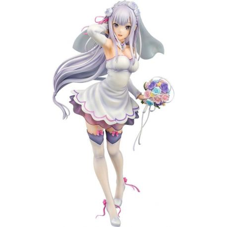 Re:ZERO -Starting Life in Another World- statuette 1/7 Emilia Wedding Ver. Phat!