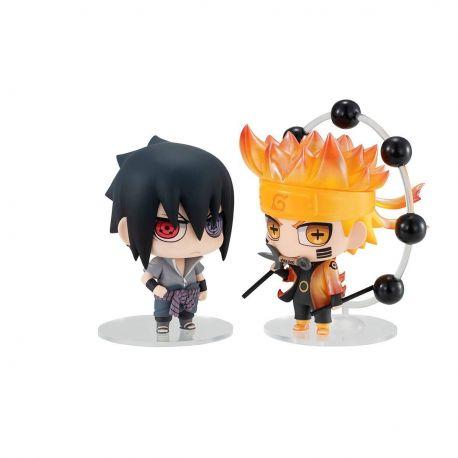 Naruto figurines Chimimega Buddy Series Naruto & Sasuke Set Megahouse