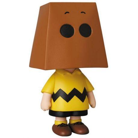 Peanuts mini figurine Medicom UDF série 10 Charlie Brown Grocery Bag Version Medicom